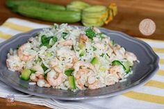 RISO GAMBERETTI E ZUCCHINE Shrimp Salad, Pasta Salad, Rice Salad, Potato Salad, Couscous Quinoa, Zucchini Rice, Cold Dishes, Italian Pasta, Light Recipes