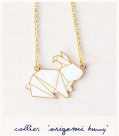 * Origami bunny (necklace)