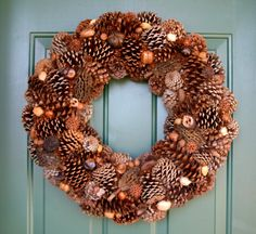 Pinecone Wreath 23 by WildMoonDesigns on Etsy, $75.00