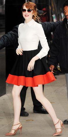 Look of the Day - April 30, 2014 - Emma Stone in Valentino from #InStyle