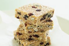 Homemade muesli bars  swap out ingredients to suit your tastes, I like swap in Goji berries so I know I have them in my partner's and My system