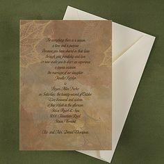 Leaves Invitation - Wedding Invitation Ideas - Wedding Invites - Wedding Invitations - Create a FREE Proof Online - Order Sample Invitations #weddings #wedding #invitations