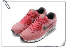 cheaper 64ff7 c1475 comprare scarpe online Canvas Rosso Grigio Nike Air Max 90 scarpe firmate  on line