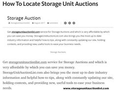 26 Best Storage Auctions images in 2018 | Storage auctions