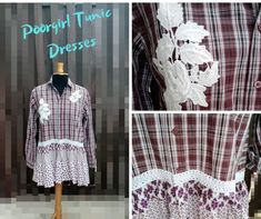 Upcycled Clothing, Mori Girl, Country Chic, Handmade Clothes, Refashion, Shabby Chic, Letter, Bohemian, Tunic