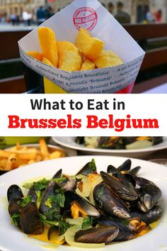 What to Eat in Brussels Belgium, Find the best food in Brussels and a Guide to Where to Eat in Brussels. #BrusselsFood #Waffles #Moules-Frites