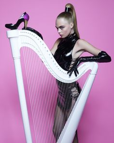 """Plastic Dreams""   Model: Cara Delevingne, Photographer: Karl Lagerfeld, Melissa Magazine, Winter 2013"