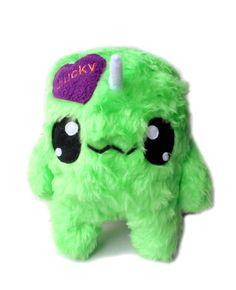 Big Fluse Kawaii Plush cute Unicorn Lucky green von Fluse123