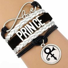 Limited Quantity Available! Prince Bracelet ~ In Honor Of A Legend Gone Too Soon! + 1 Extended Chain with Lobster Claw Clasp. Girls Jewelry, Jewelry Gifts, Jewellery, Prince Purple Rain, Prince Rogers Nelson, Mint Blue, Purple Reign, Black Bracelets, My Prince