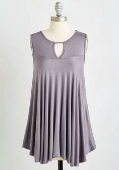 Flow Your Roll Top. Youve mastered the art of easygoing elegance, which is evident when you flaunt this breezy top! #grey #modcloth