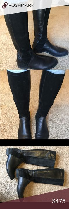 Selling this High quality Fitted black leather/suede boots on Poshmark! My username is: dinydelbene5. #shopmycloset #poshmark #fashion #shopping #style #forsale #aquatalia  #Shoes