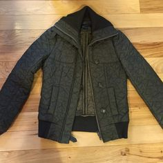 French connection quilted bomber jacket Good used condition lots of life left! French Connection Jackets & Coats