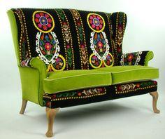 Bespoke Suzani Patchwork Parker Knoll Sofa By Justinadesign Interesting Vintage Furniture