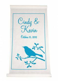 Ivy Lane Design, Bird Silhouette Aisle Runner #IvyLaneDesign #SellTheBride http://sellthebride.com/listing/guide/bridal-accessories #WeddingIndustry #WeddingProfessionals