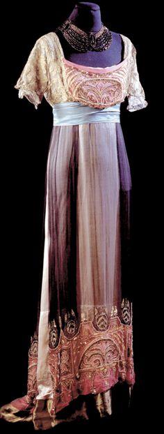 Robe de soirée: 1912, Paris, French, Collection of Alexandre Vassiliev (Moscow).