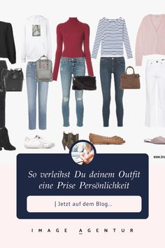 So verleihst du deinen Outfits mehr Persönlichkeit   Stil- und Imageberatung Boyfriend Jeans, Coaching, Outfit Zusammenstellen, Polyvore, Blog, Outfits, Image, Fashion, White Jeans