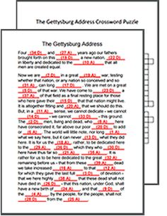 Printables Gettysburg Address Worksheet the gettysburg address 5th 6th grade worksheet lesson planet this site has resources for teaching including a crossword puzzle a