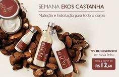 #redenaturasilviahelenamuller Linha Ekos Castanha com 20% de desconto. Promoção válida até o dia 01 de junho ou enquanto durarem os estoques para compras realizadas no site: http://rede.natura.net/espaco/silviahelenamuller/nossos-produtos/castanha-b4?_requestid=780177