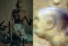 मंगल ग्रह पर महात्मा गांधी की आकृति!