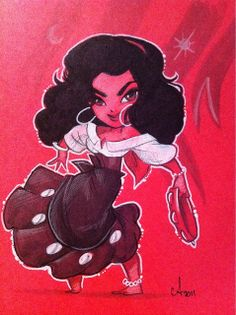 Esmeralda by Amy Mebberson. my disney princess forever and life.