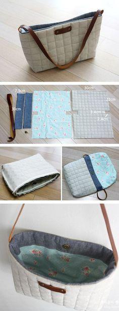 Sew a Mini Messenger Bag. Photo Tutorial http://www.free-tutorial.net/2016/12/mini-shoulder-bag-tutorial.html