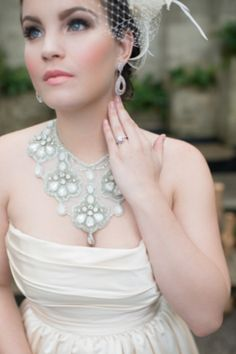 A glamorous and creative love is sweet wedding inspiration shoot in central Florida with a citron and pink color palette. Wedding Looks, Wedding Make Up, Dream Wedding, Bridal Accessories, Wedding Jewelry, Vintage Headbands, Glamorous Wedding, Love Is Sweet, Beautiful Eyes