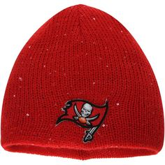 reputable site 116b0 0a7d6 Tampa Bay Buccaneers New Era Women s Glistner Redux Knit Beanie - Red