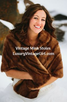 Rustic Wedding Bridal Furs Winter Wedding Mink Shawls and Wraps Vintage Mink Stoles Fox Wraps Great Gatsby inspired vintage furs; find the vintage fur of your dreams at LUXURYVINTAGEGIRL.COM Luxury Vintage Bridal Fur Shop Winter Wedding Fur, Fall Wedding, Winter Weddings, Wedding Ideas, Vintage Fur, Vintage Bridal, Mink Stole, Winter Wedding Inspiration, Wedding Rustic