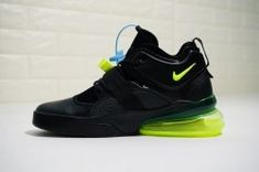 huge selection of 1d327 4974a Nike Air Max 270 Black/Fluorescent green Men's Running Shoes