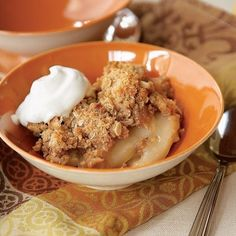 The Ultimate Pear Crisp/ and notably  one of the oldest fruit --dating back to 5,ooo bc--cultivated byt the CHinese and mentions in Homer'sOdessy..
