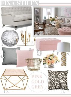Rose gold room ideas grey and gold living room gray and rose gold bedroom impressive gold . Decor Room, Living Room Decor, Bedroom Decor, Bedroom Ideas, Bedroom Wall, Living Room Grey, Home And Living, Blush Grey Copper Living Rooms, Grey And Dusky Pink Bedroom