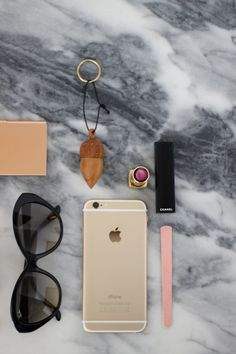essentials #marble #morning #essentials #chanel #rosegold #grey #home #decor