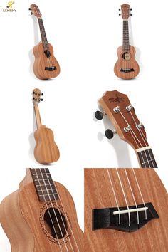 "[Visit to Buy] 21"" 15 Frets Soprano Ukulele Uke Sapele Rosewood Professional Hawaiian Guitar For Begginer/ Player Gift Musical Instrument #Advertisement"