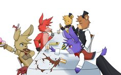 [FNAF] Snack Time! by xXAnimezXx on DeviantArt XD OMG SPRING TRAP AND BONNIE