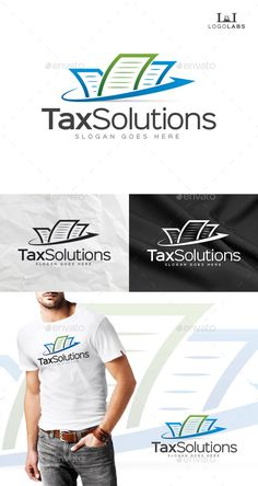Tax Solutions Logo: Object Logo Design Template created by LogoLabs.