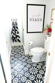 half bathroom ideas - Want a half bathroom that will impress your guests when entertaining? Update your bathroom decor in no time with these affordable, cute half bathroom ideas. Easy Bathroom Updates, Cheap Bathroom Remodel, Cheap Bathrooms, Simple Bathroom, Bathroom Renovations, Amazing Bathrooms, Luxury Bathrooms, Shower Remodel, Half Bathrooms