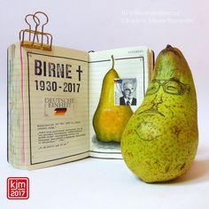Birne, Kanzler Kohl, IG@illustratedjournal, Kathrin Jebsen-Marwedel