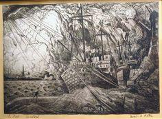 Le port de Montréal (c. 1930) - Marc-Aurèle Fortin Art Prints, Black And White, Drawings, Painting, Outdoor, Puertas, Group, Art Impressions, Outdoors