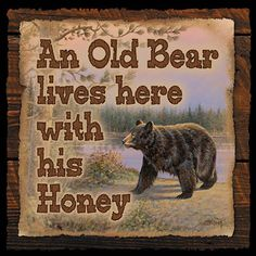 Cute Old Bear Wood Sign • Signs • CampFitters.com under Cabin Art > Signs.