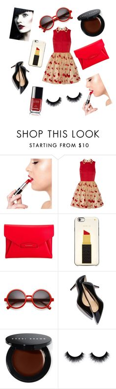 """""""Cherrys and red"""" by liesje-2002 on Polyvore featuring mode, Manic Panic, Alice + Olivia, Givenchy, Kate Spade, Bobbi Brown Cosmetics, Chanel, women's clothing, women en female"""