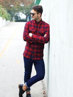 09ee278b832cf  tartan  fashion  moda  men Fashion Mode