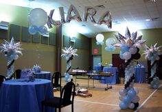 Cool balloon decorations for Sweet 16 party ideas.