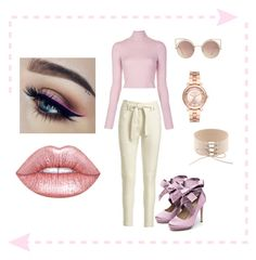 """""""Sage Quinzel (00:04) Interview outfit"""" by bebe-lindsss on Polyvore featuring A.L.C., Lime Crime, Liam Fahy, Michael Kors and MANGO"""