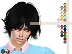 Sims 4 CC's The Best Male Hair By Elzasims Sims 4 Pinterest