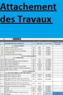 Télécharger gratuitement: Modèle ATTACHEMENT DES TRAVAUX