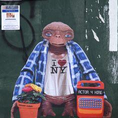 """E.T. No Home"" in Brooklyn by Crummy Gummy"