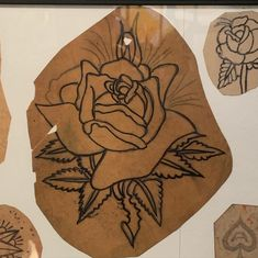 Vintage Tattoo Design, Vintage Designs, Tattoo Museum, Best Roses, Flash Tattoo, Traditional Tattoo Flash, Vintage Flash, Old Tattoos, Tattoo Inspiration