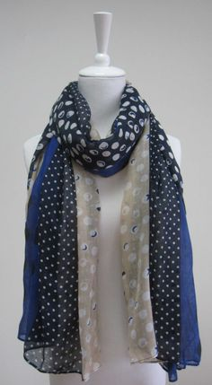 Item: 14SS0017     Description:Fashion Printing Scarf with dots     Size: 180*110 cm     Composition: 100% Viscose     Application:WOMEN     Moq:800 Pcs     Lead time: 60 days     Country of Origin: China     Main Market:America, Europe, Australia, Japan     Specification:Very soft hand feel