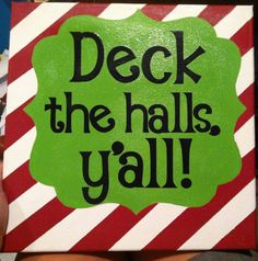 12X12 Christmas Canvas by CraftyMamasCreations on Etsy, $20.00
