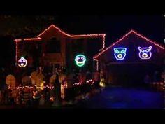 Impressive Halloween Light Show Will Blow You Away - Thomas Halloween 2013 - music: Awolnation - Sail  : mashable